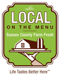Look for this logo for fresh Sussex County-sourced ingredients. Click to learn more.