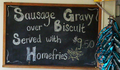 sunrise sausage gravy sign rf