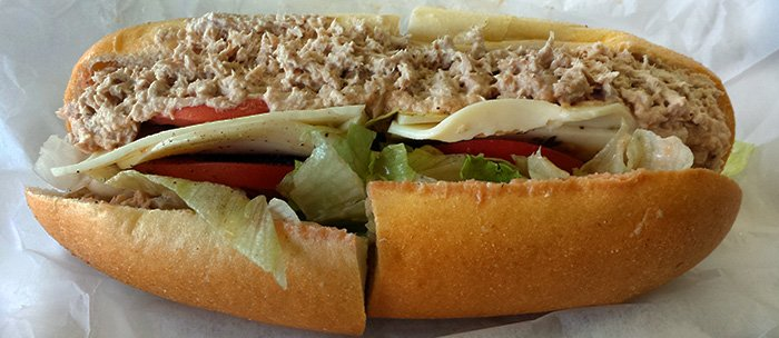 The tuna sub is a sleeper. Add cheese and a little hot pepper spread.