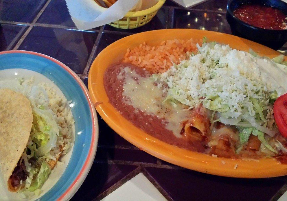 Enchilada trio. And a taco.