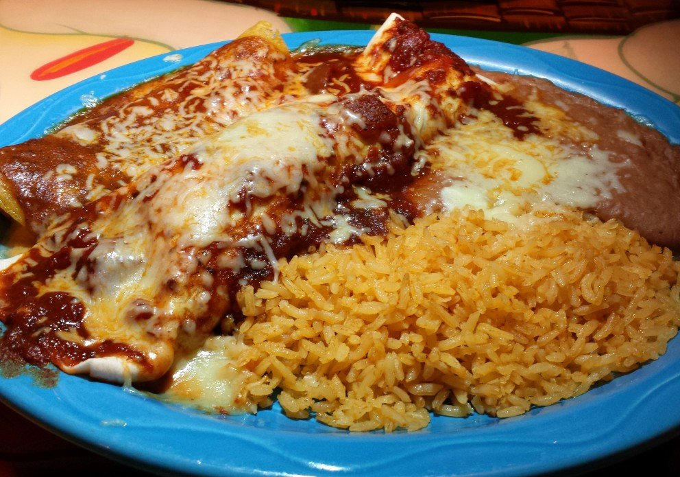 The # 125 with chix burrito, cheese enchilada and beef taco