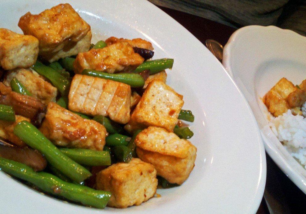 Tofu/shiitake stirfry. Veggiefied and lovin' it!
