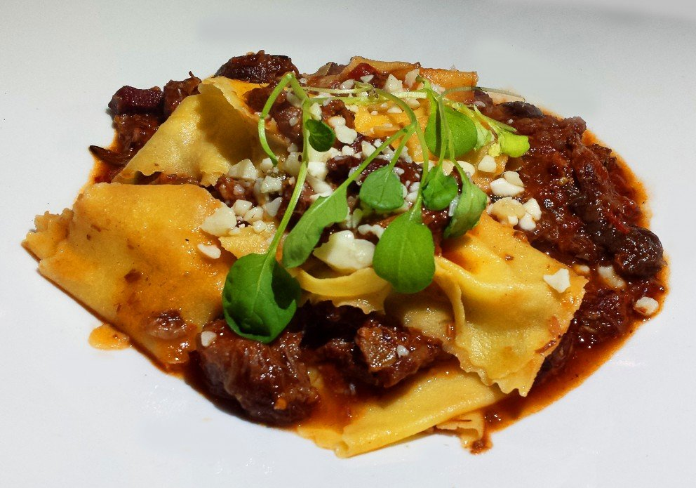 Port Cheek Ragout with pappardelle & capers