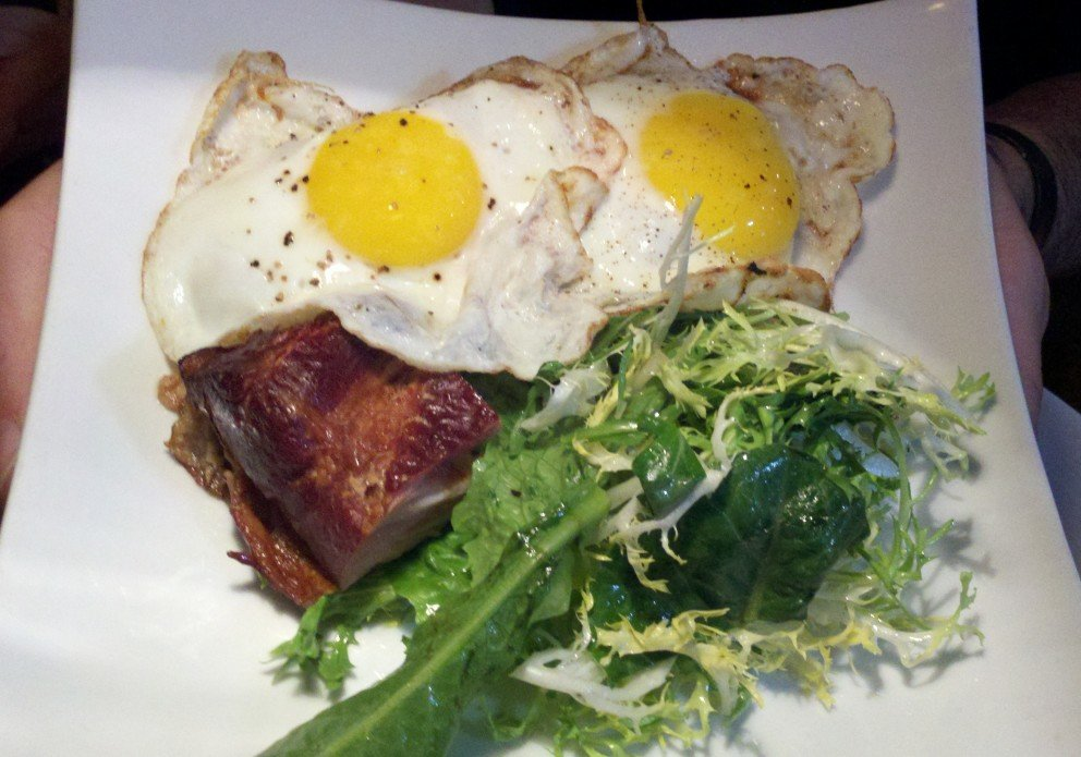 Braised eggs at Sunday brunch