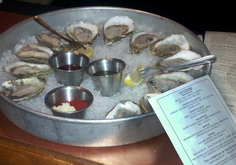 Oyster sampler with instruction manual