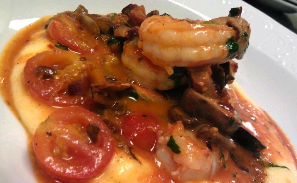 Shrimp/mushroom/tomatoes