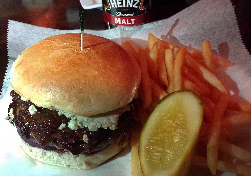 Bacon Jam & Blue Burger