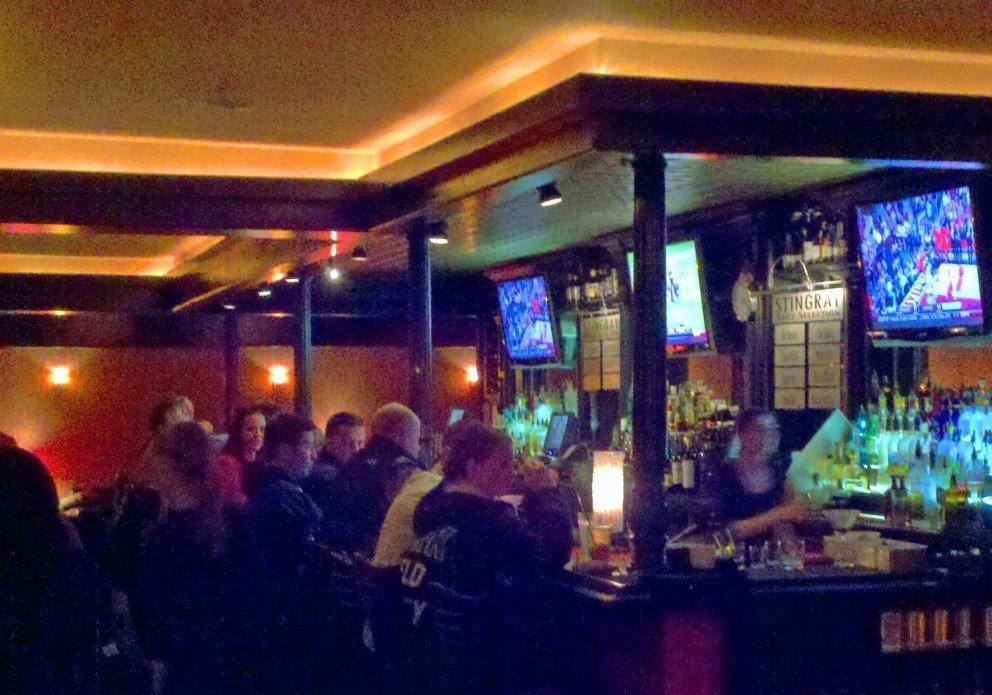 The busy bar at Stingray