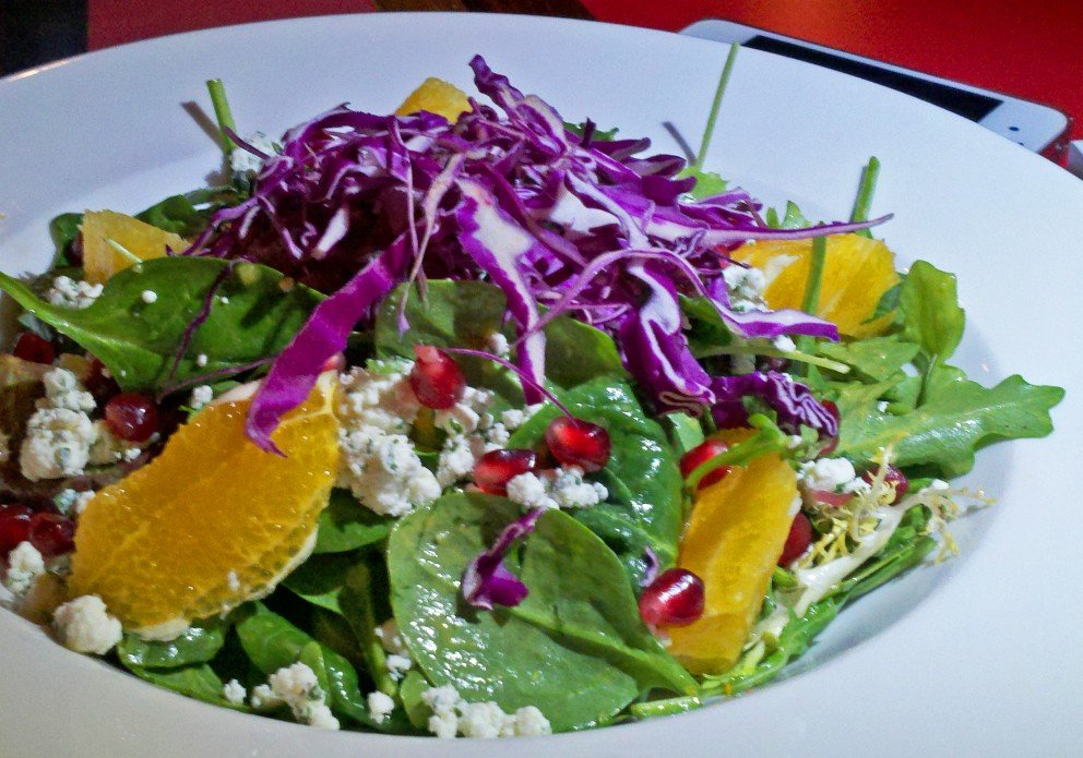 Orange pomegranate salad. I think it was a special. Too bad. Delicious!