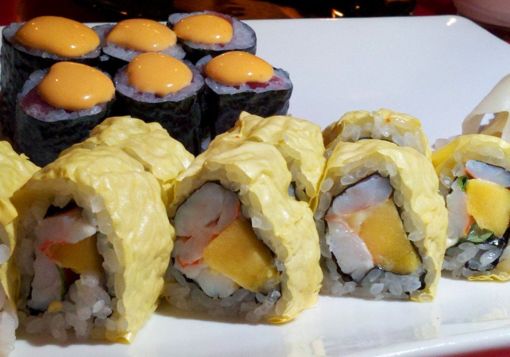 Some rolls are wrapped in soy paper. Learn it in Sushi 101.