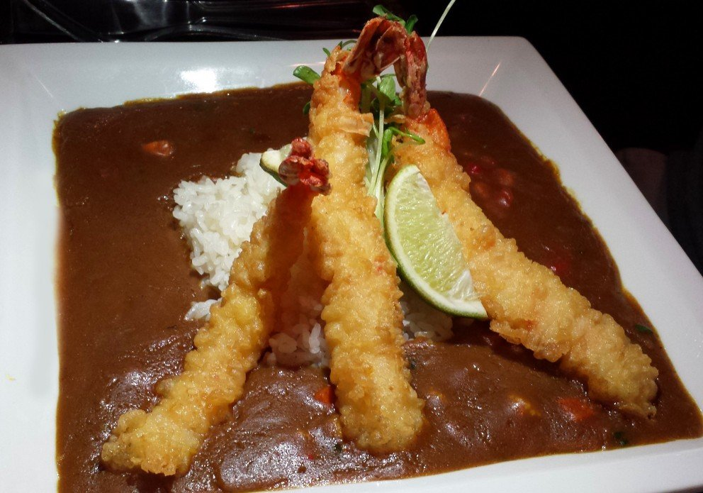 Java Curry tempura shrimp