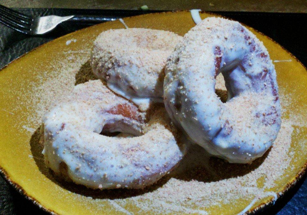 Freshly made doughnuts for dessert.