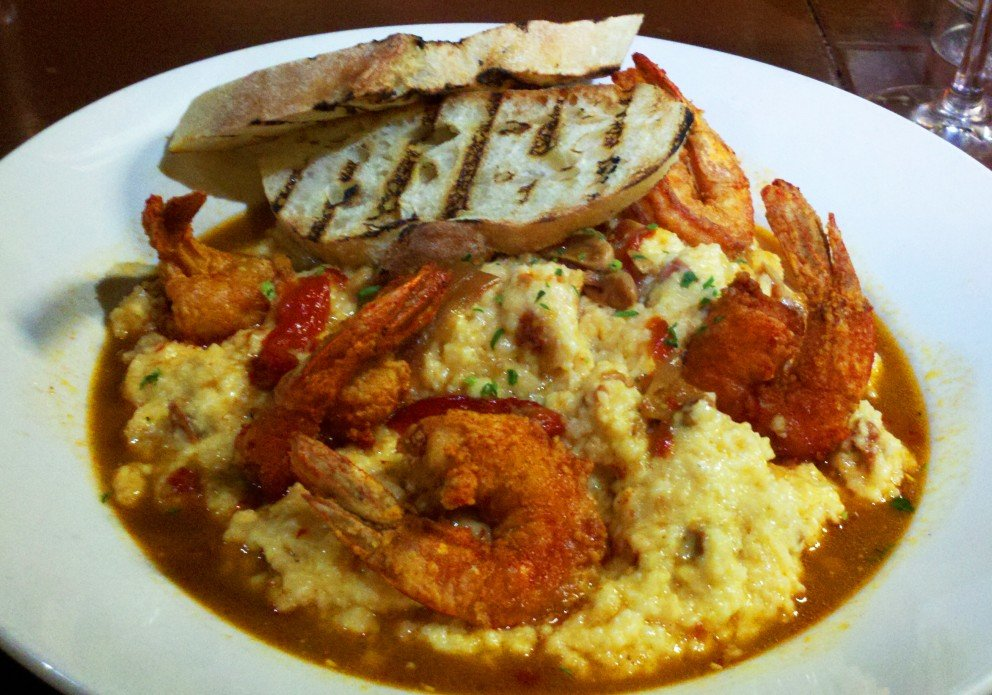 Shrimp 'n' Grits. Pretty to look at, better to eat.