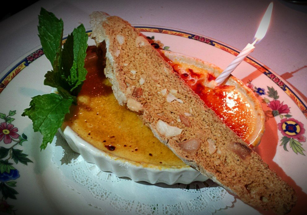 Happy Birthday! Coconut creme brulee. The ultimate gift........