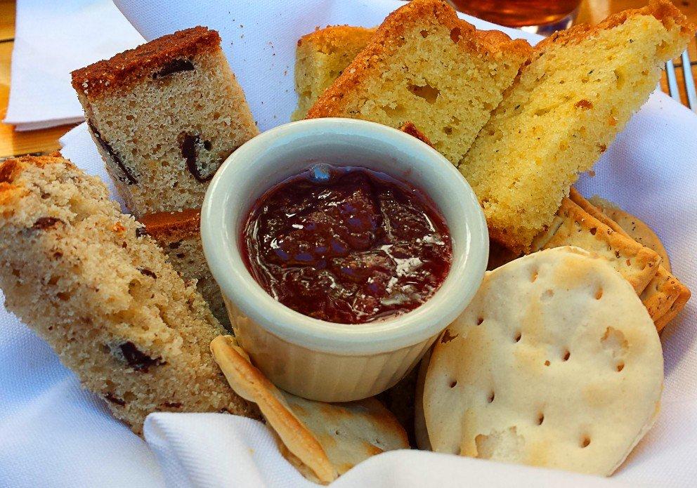 homemade breads at Sunday brunch