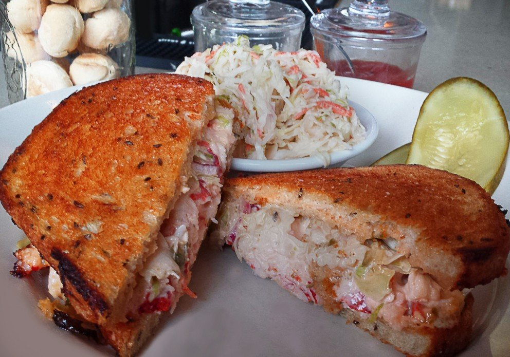 Lobster Reuben. A lunchtime favorite.
