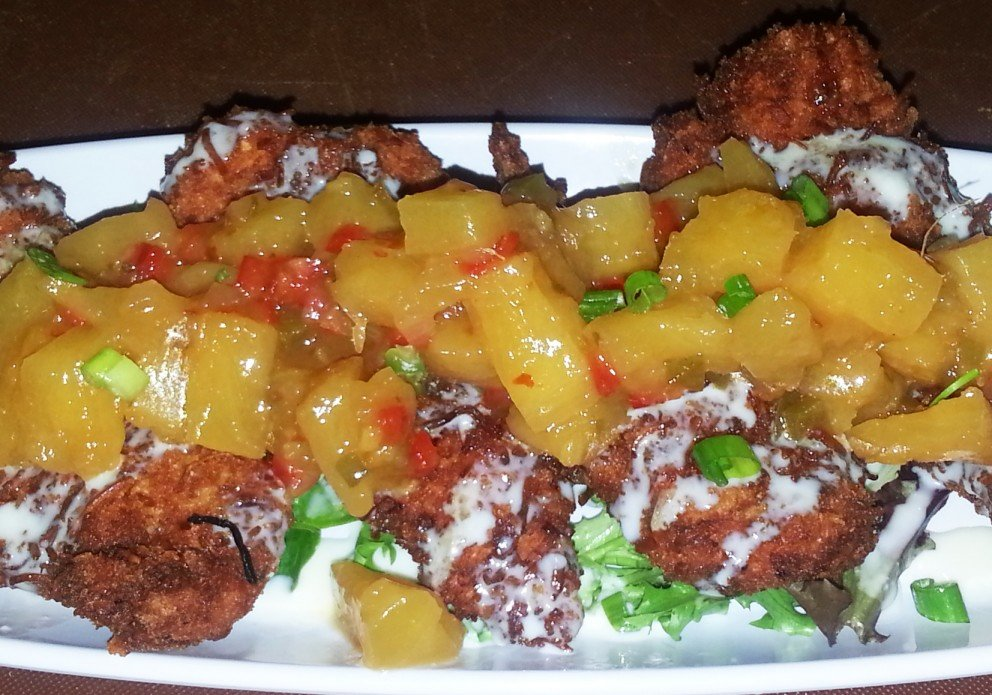 Coconut chicken with pineapple