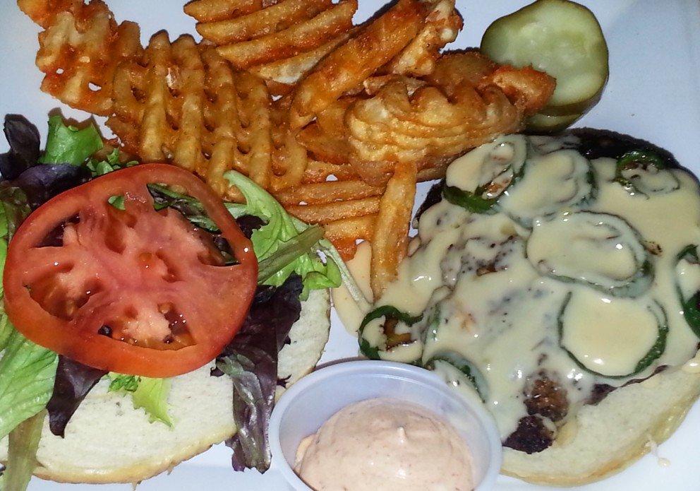Jalapeno burger. Hot & lovin' it.