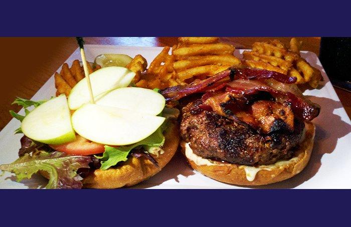 Apple-bacon-brie burger!