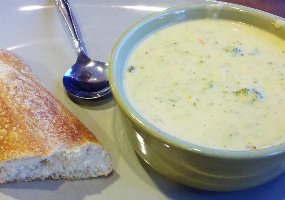 The broccoli cheddar soup. One of the stars of the show.