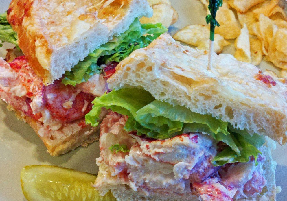 The lobster salad sandwich.