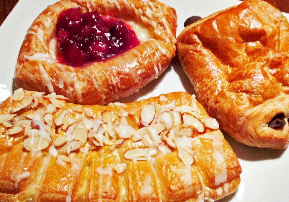 The bear claw & cherry-cheese danish. Sleepers both.