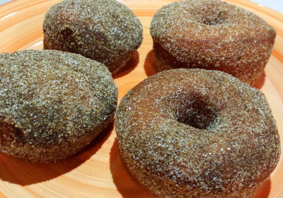 Dru Tevis' cinnamon curry doughnuts. Call first!