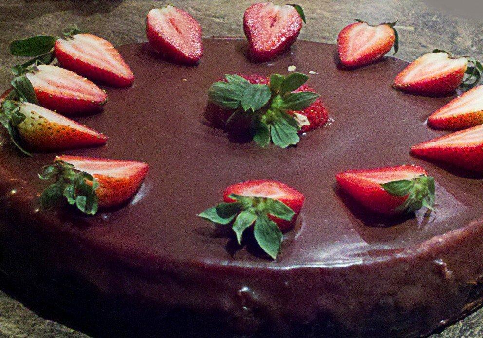 Chocolate covered cheesecake