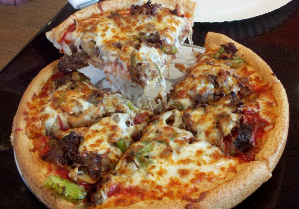 The cheesesteak pizza