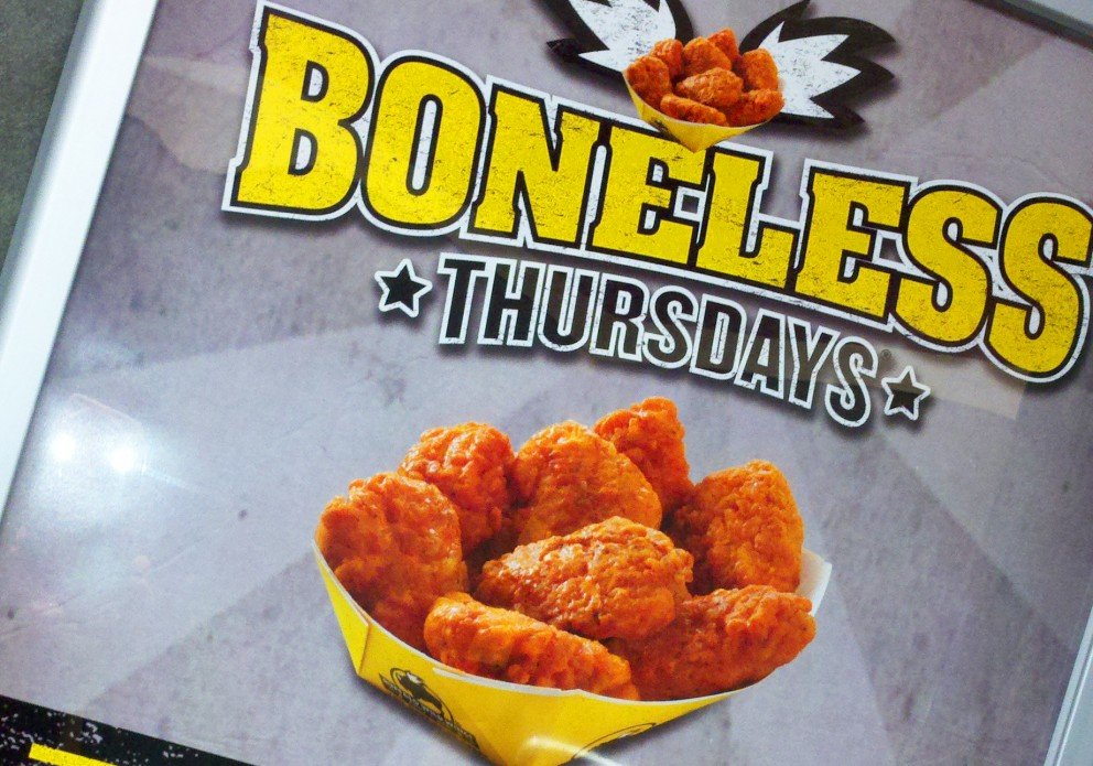 Jul 20,  · Best Answer: It is their special promotion Wing Tuesdays where their Chicken wings are on special, 40 cents per wing, minimum 10 wings and up to wings which means you have to order in 10s or 5s. Normal price is for tikmovies.ml: Resolved.