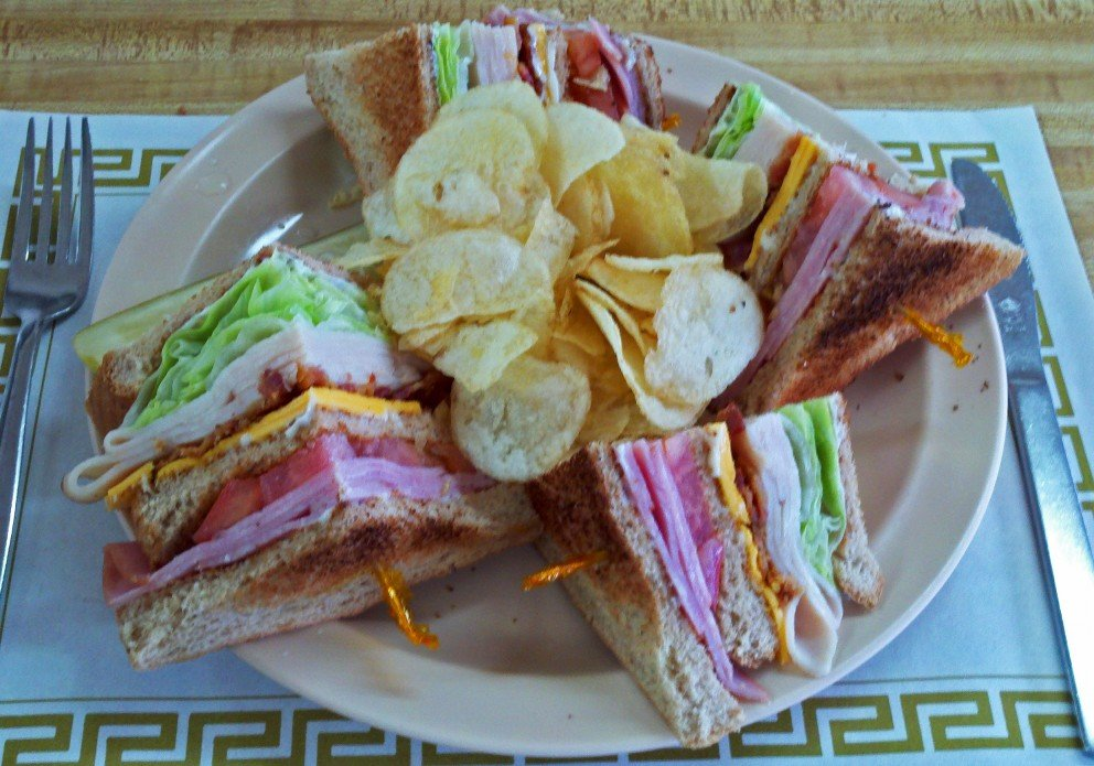Club sandwich is one of the best at the beach.