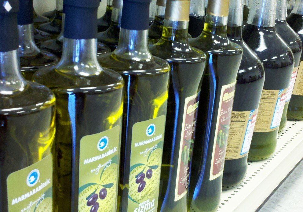 Lots of different olive oils