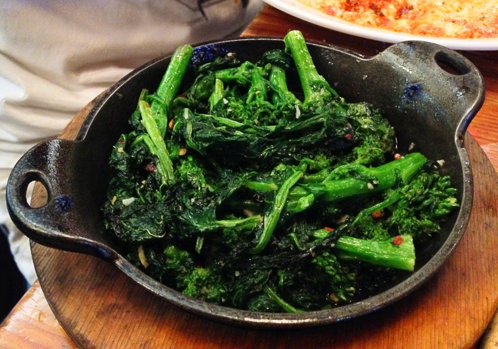 TOI's famous Broccoli Rabe. Photo courtesy of Wanda Clark