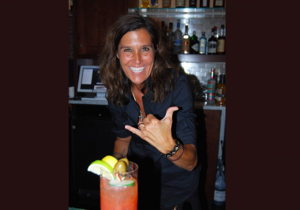 Barkeep Kymmr with her signature bloody mary