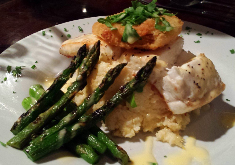 Citrus Hollandaise Halibut. This one's a winner, but it might have been a special...