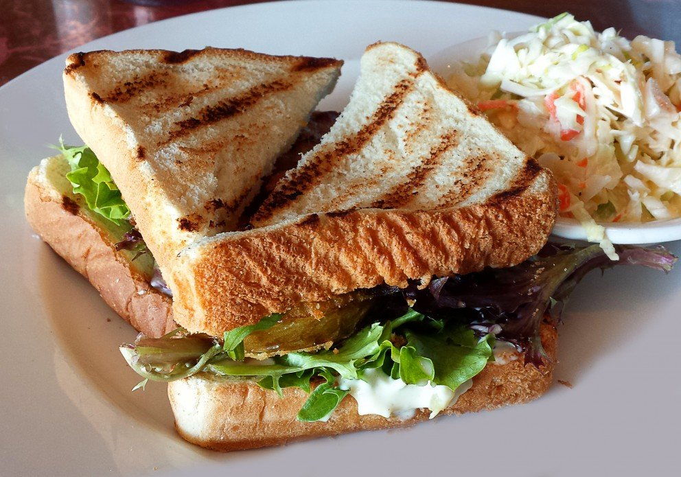 Fins BLT with Fried Green Tomatoes
