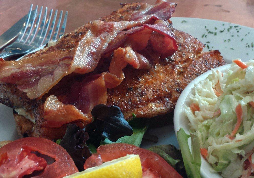 Blackened Salmon BLT. Another winner!
