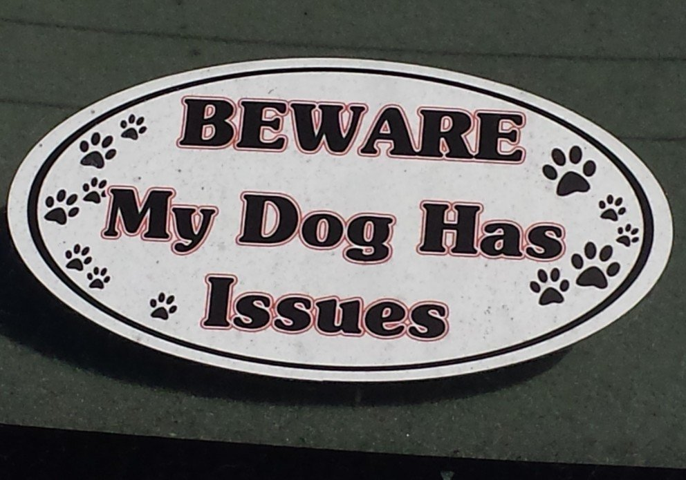 dogs issues sign