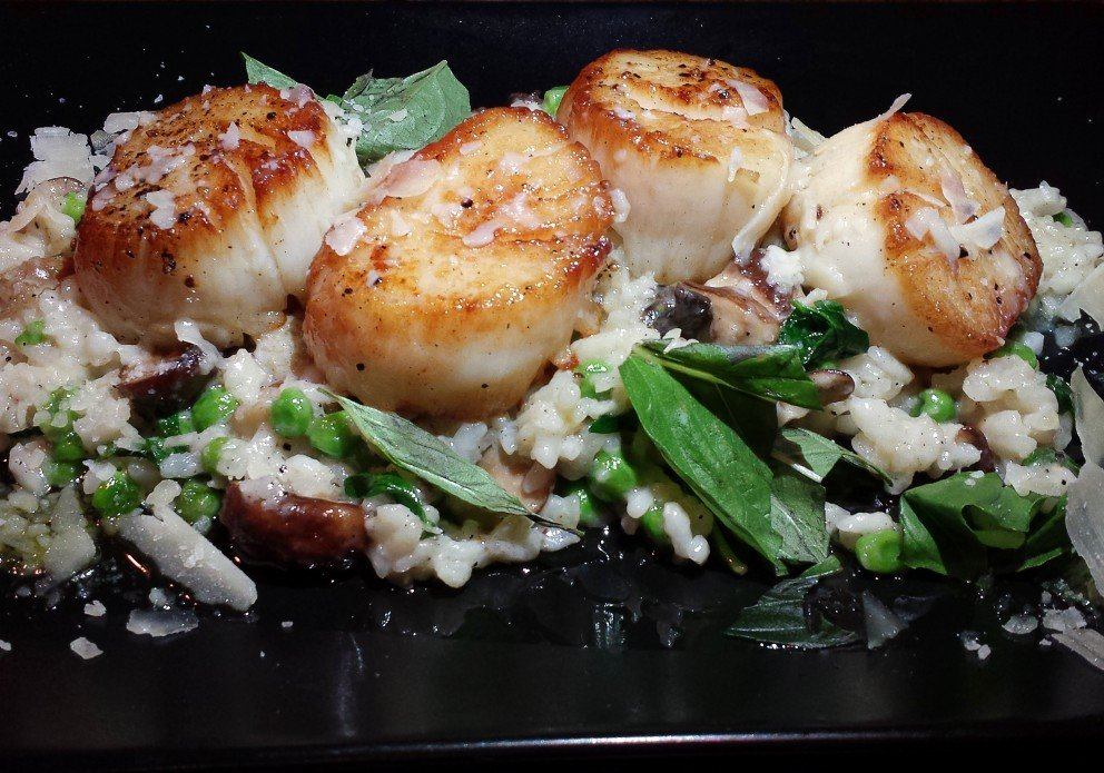 The Scallops with that risotto