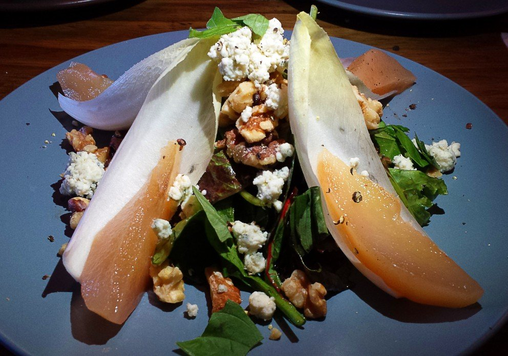 The poached pear salad. Lisa ate the first one before I could photograph it.