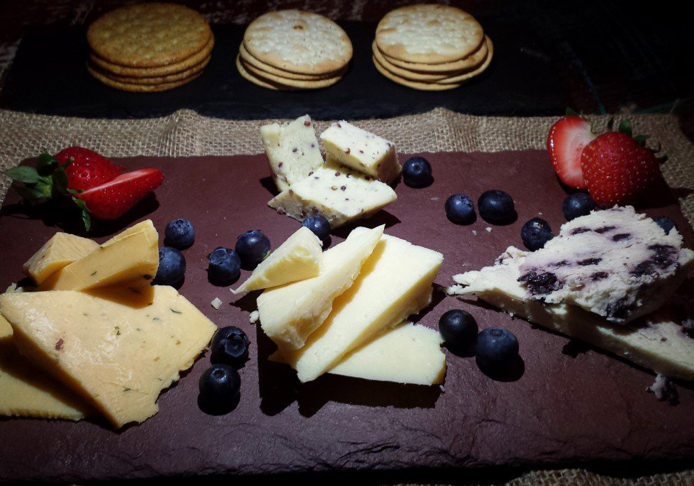 An off-menu cheese plate, but it IS pretty, huh?