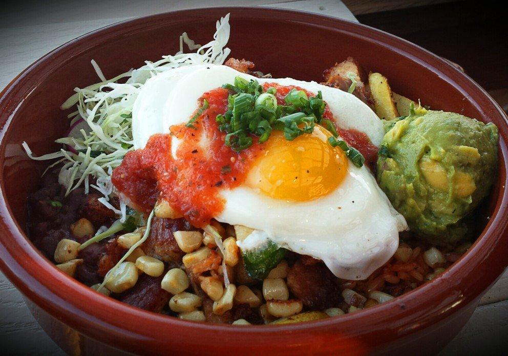 Pork Belly and Fried Egg Rice bowl