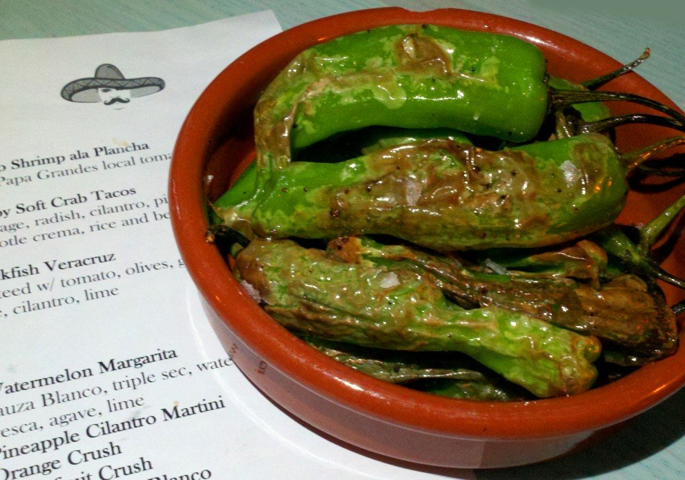 The salty, roasted Padrons!