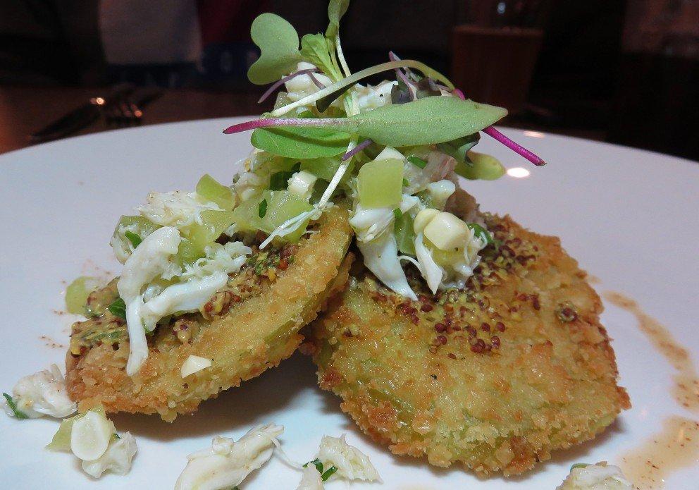 Fried Green Tomatoes & Crab Salad