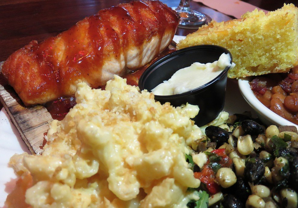 Salmon with three sides