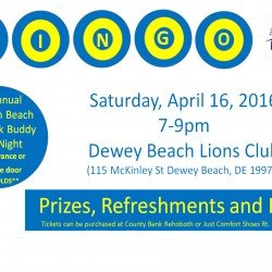 Buddy Walk Bingo 4/16