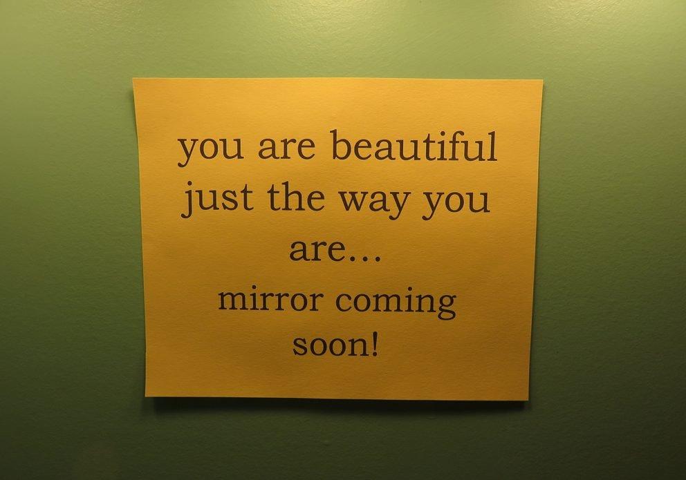 Heirloom NEW mirror signcrenhsized
