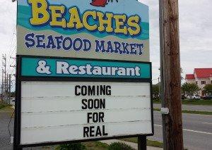 Beaches Opening – Soon…