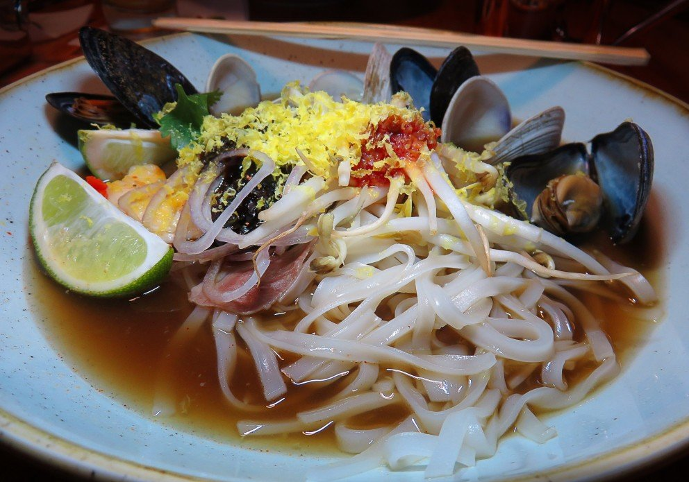 The Seafood Pho entree