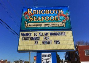 Rehoboth Seafood Closes